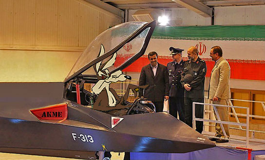 Ahmadinejad Unveils Iran's New Stealth Fighter Jet